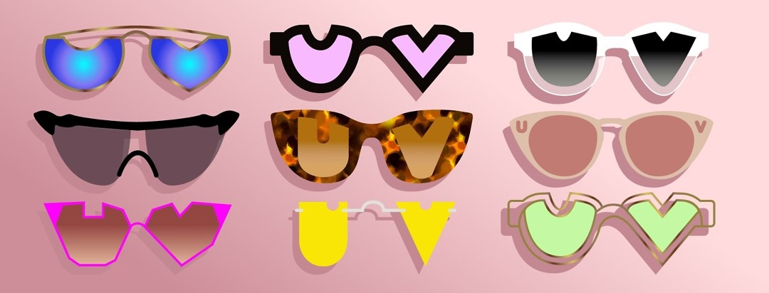 a range of different sunglasses