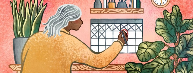 A woman marks her calendar for an important appointment on short notice.